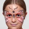 Kinderschminken Schmetterling – Vorher Nachher