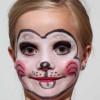 Kinderschminken Zaubermaus – Vorher Nachher