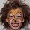 Kinderschminken Löwe – Vorher Nachher