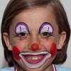 Kinderschminken Clown – Vorher Nachher