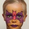 Kinderschminken Fledermaus oder Batman – Vorher Nachher