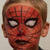 Spiderman schminken – Vorher Nachher