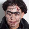 Frankenstein für Halloween schminken – Vorher Nachher
