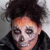 Zombie für Halloween schminken – Vorher Nachher