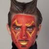 Teufel – die klassische Variante in rot schminken – Vorher Nachher