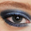 Blaues Smokey Eyes Augen Make up schminken