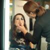 Schminken für einen Videodreh bei Fashionart