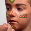 Kinderschminken Indianer – Schminkanleitung und Kostüm selber machen